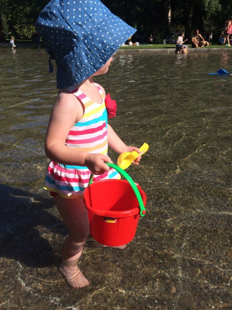 Only a couple more days of wading pool fun.