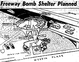 Seattle Post-Intelligencer announces bomb shelter plan May 1961