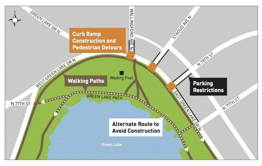 Green Lake Curb Ramp Construction Map final