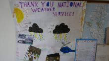 A thank you note from local kids.